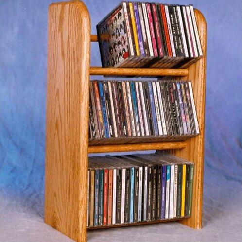 78 CD Dowel Multimedia Tabletop Storage Rack By Rebrilliant