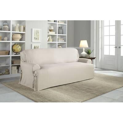 Cotton Duck T Cushion Sofa Slipcover