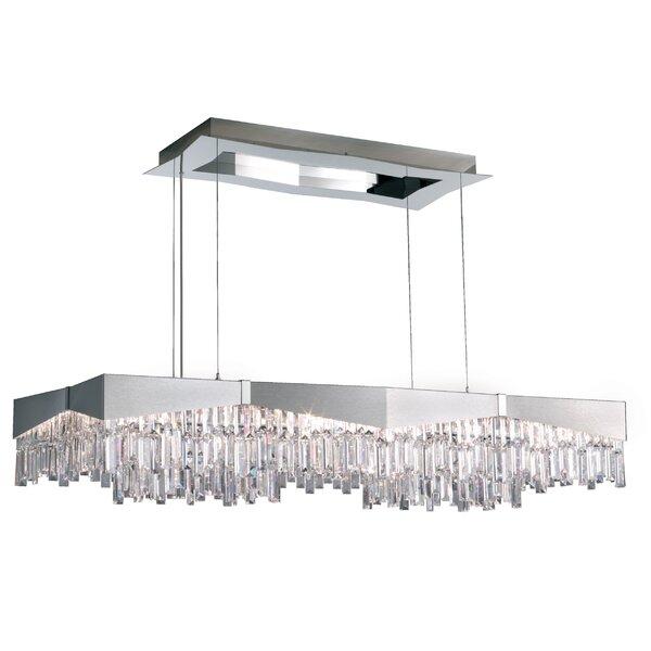 Riviera 8-Light Unique / Statement Rectangle / Square Chandelier By Schonbek