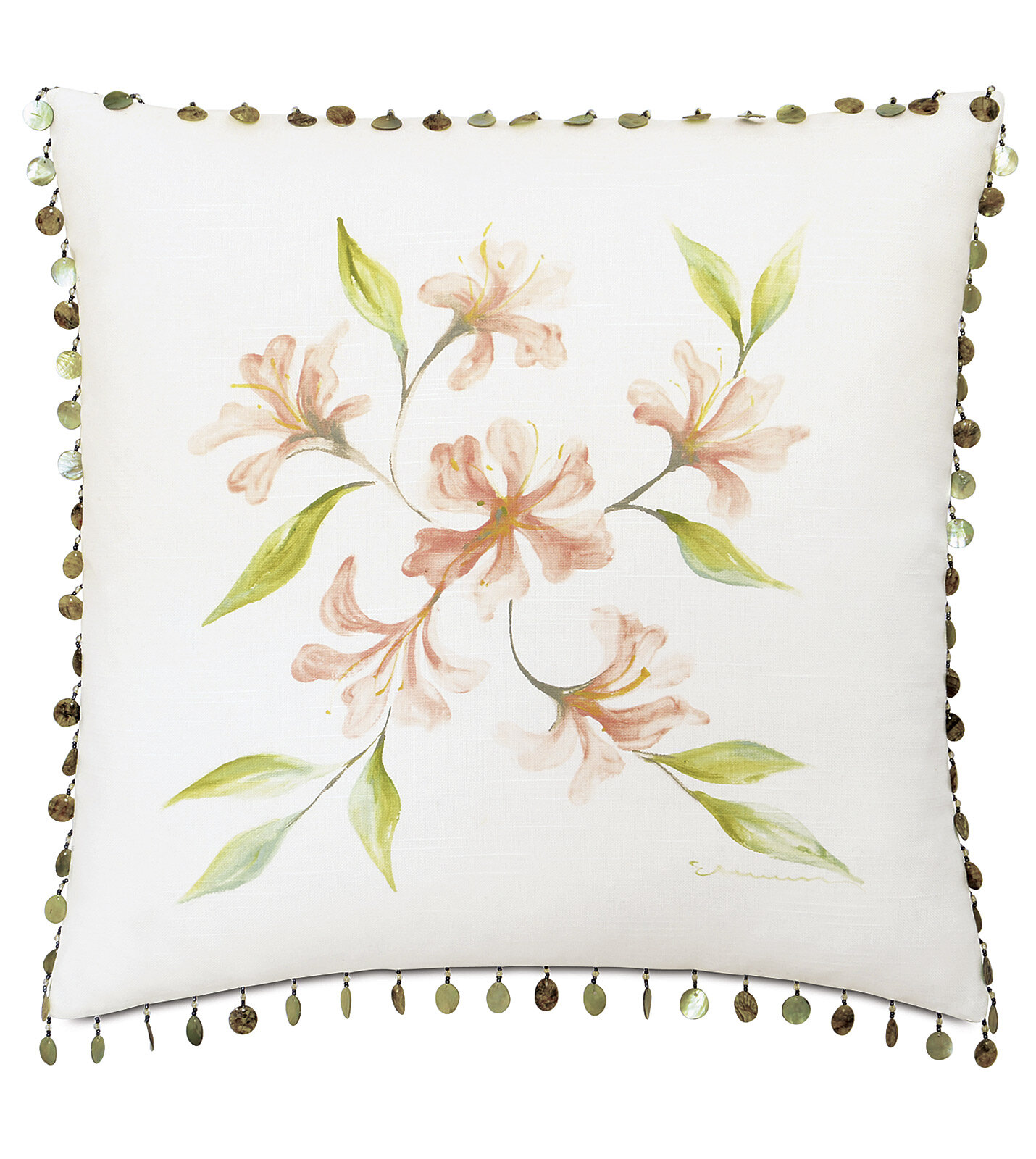 Eastern Accents Ocean Drive Water Flower Cotton Floral Throw Pillow Perigold