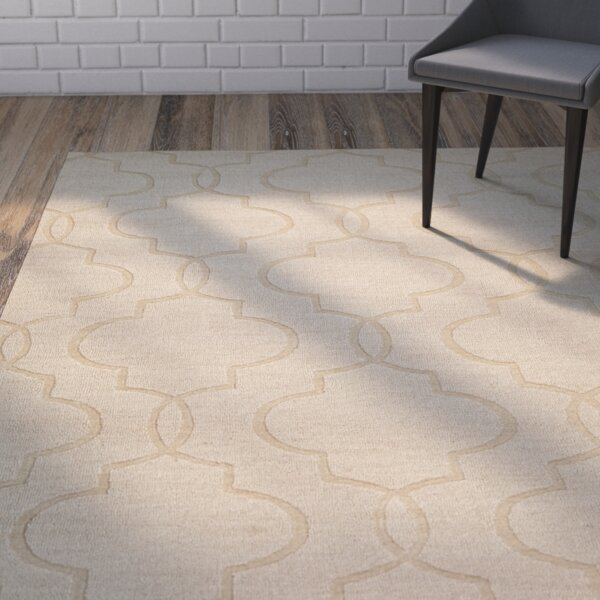 Villegas Hand-Woven Ivory Area Rug by Wrought Studio