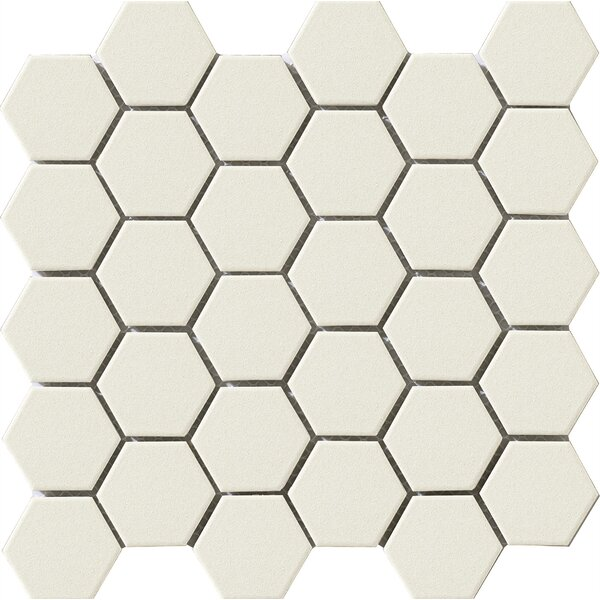 Urban 2.25 x 2.25 Porcelain Mosaic Tile in Off-White Hexagon by Walkon Tile