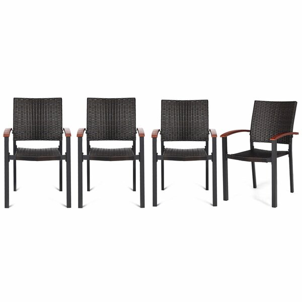 Williar Stacking Patio Dining Chair (Set of 4) by Bay Isle Home