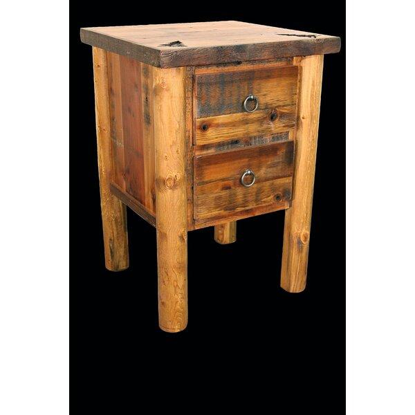 Jorgensen 2 Drawer Nightstand by Loon Peak