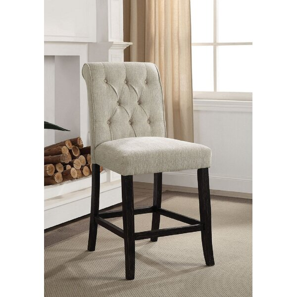 Bejarano Tufted Upholstered Solid Wood Side Chair In White/Black (Set Of 2) By Red Barrel Studio