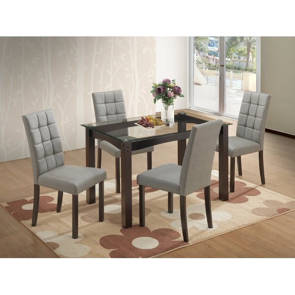 Senecaville 5 Piece Dining Set by Ebern Designs Ebern Designs