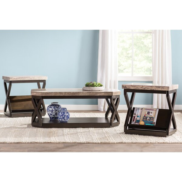 Kelton 3 Piece Coffee Table Set by Latitude Run
