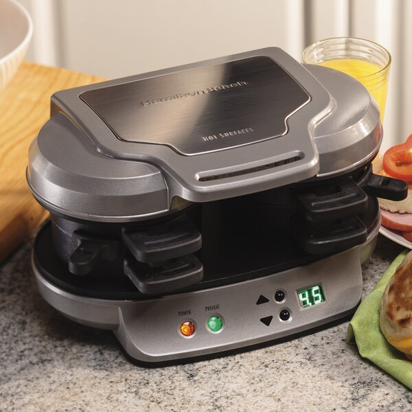 Dual Breakfast Sandwich Maker By Hamilton Beach.