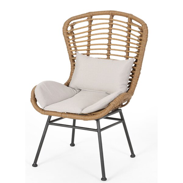 Nagata Patio Chair with Cushions (Set of 2) by Bungalow Rose