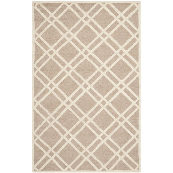 Martins Hand-Tufted Wool Beige/Ivory Area Rug by Wrought Studio