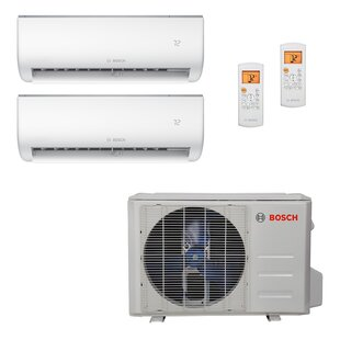High Efficiency Ultra-Quiet 18,000 BTU Energy Star Ductless Mini Split Air Conditioner with Heater and Remote by Bosch