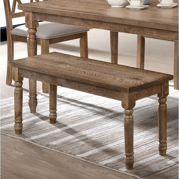 Devonte Dining Wood Bench by Ophelia & Co.