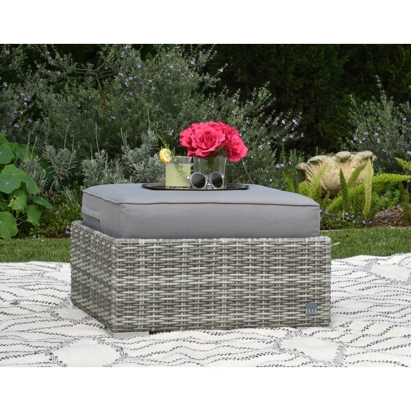 Vallauris Outdoor Ottoman with Cushion by Elle Decor
