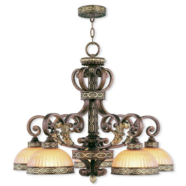 Schweizer 5-Light Shaded Classic / Traditional Chandelier By Astoria Grand
