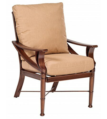 Arkadia Patio Dining Chair with Cushion by Woodard