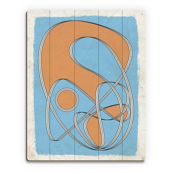 Riot Ribbon Orange and Blue Graphic Art on Plaque by Click Wall Art
