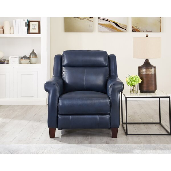 Esperia Leather Power Recliner by Ebern Designs Ebern Designs