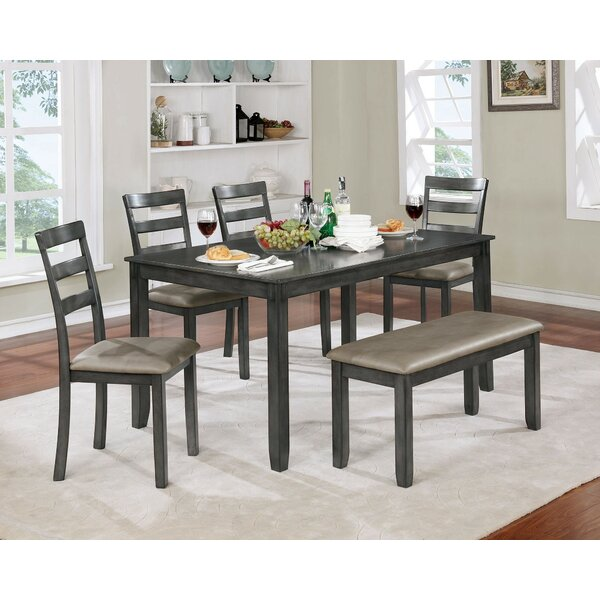 Inola 6 Piece Dining Set by Fleur De Lis Living