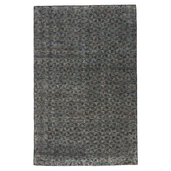 Hammond Geometric Hand-Knotted Wool Gray Area Rug