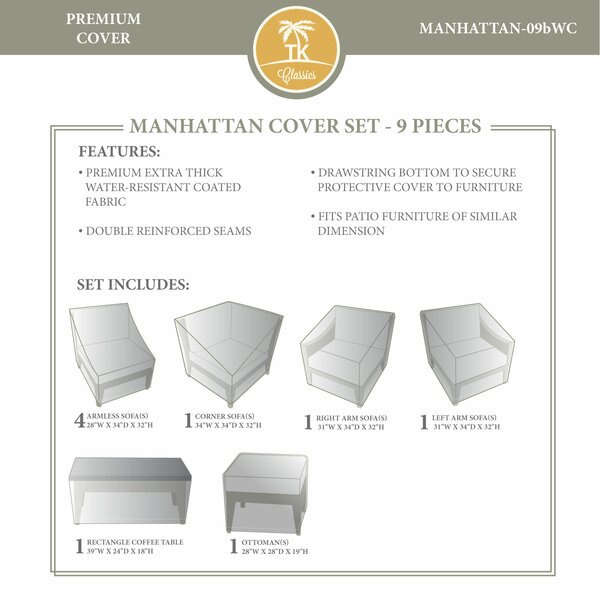 Manhattan Winter 9 Piece Cover Set by TK Classics