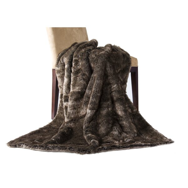 Wolf Throw Blanket by 14 Karat Home Inc.