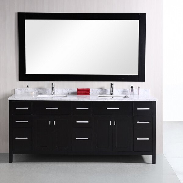 Carrasquillo 78 Double Bathroom Vanity Set with Mirror