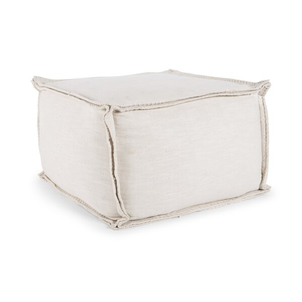 Dussault Cotton Pouf by Gracie Oaks