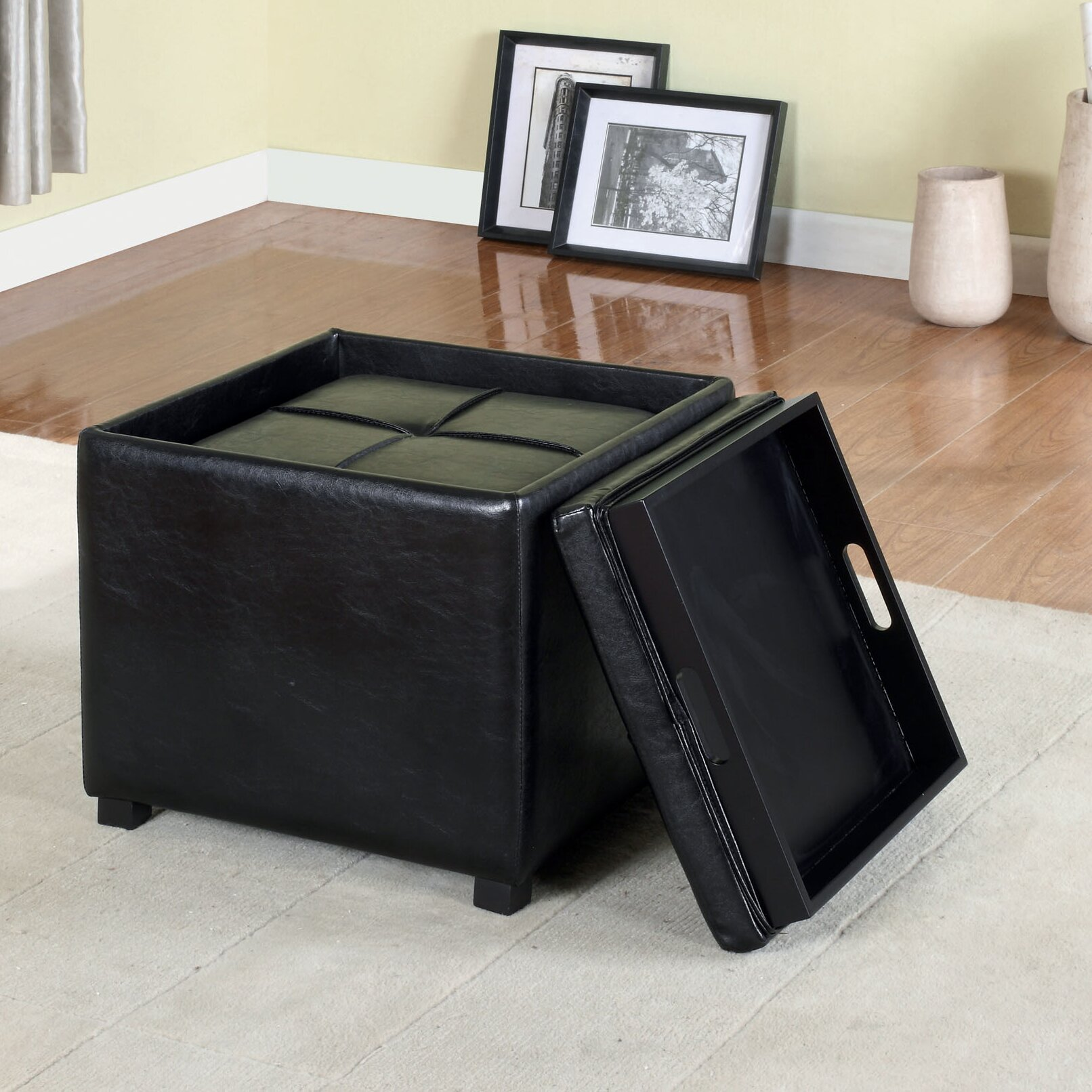 Coffee table with nesting ottomans - Flappers Nesting Ottoman