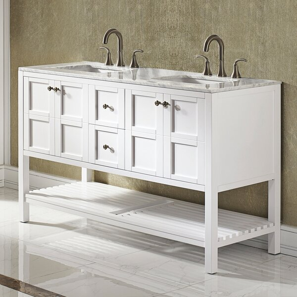Caldwell 60 Double Bathroom Vanity Set by Beachcrest Home