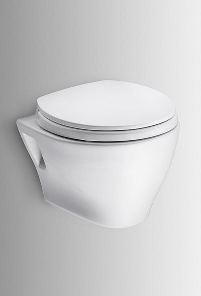 Aquia Wall Hung Dual Flush Elongated Toilet Bowl by Toto