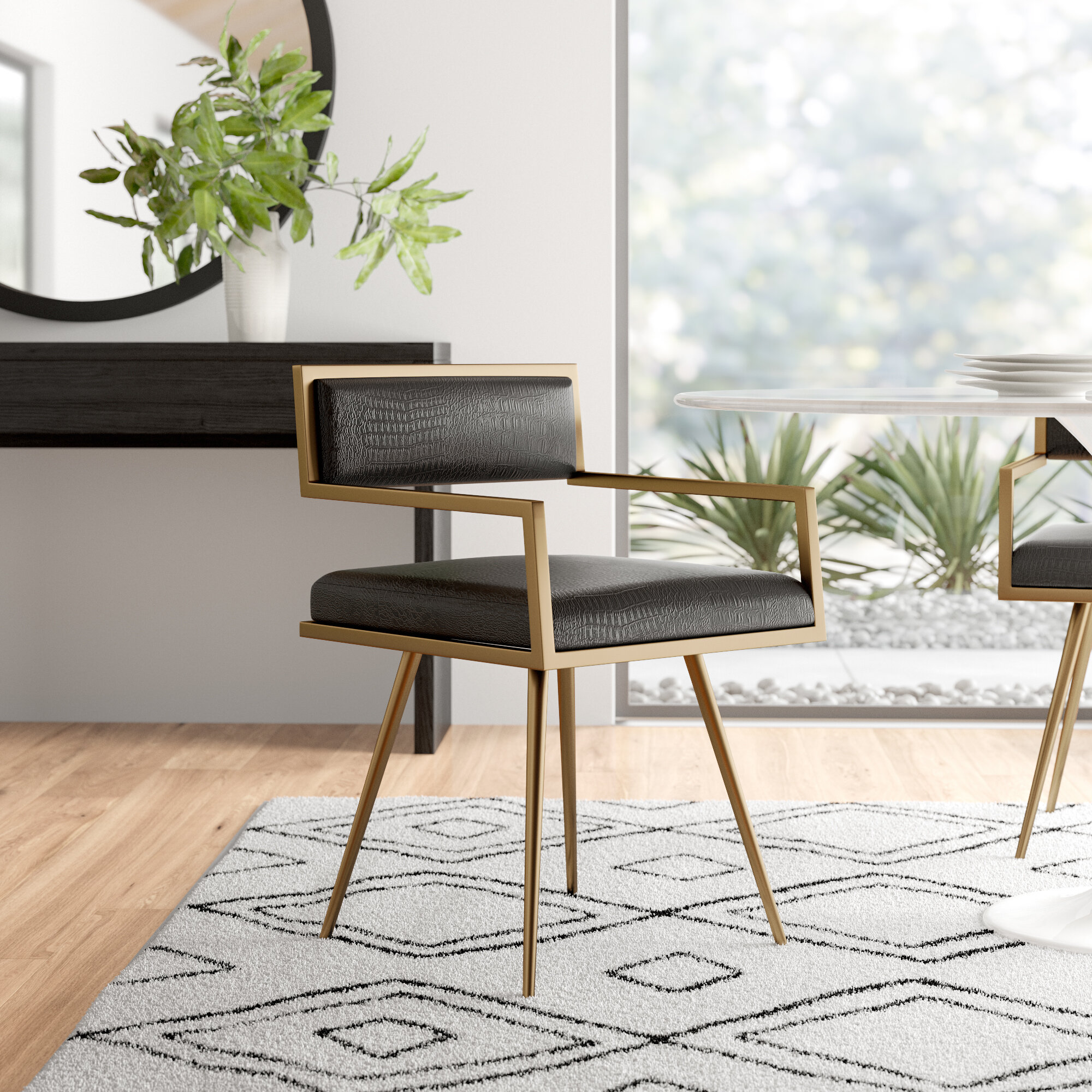 Swell Como Upholstered Dining Chair Andrewgaddart Wooden Chair Designs For Living Room Andrewgaddartcom