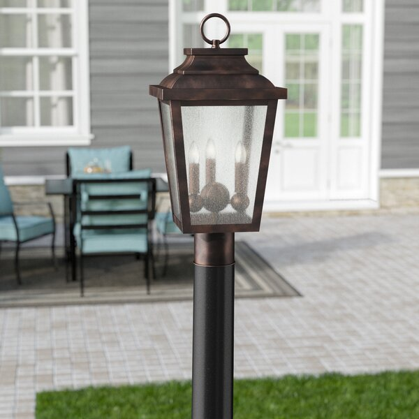 Mayhugh Outdoor 3-Light Lantern Head by Three Posts
