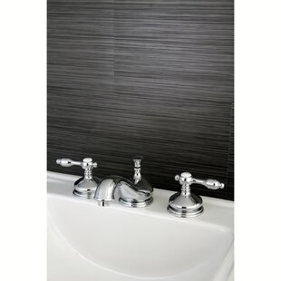 Tudor Widespread Bathroom Faucet with Brass Pop-Up Drain