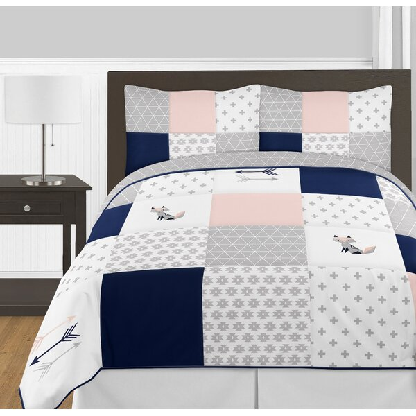 Fox Patch 3 Piece Queen Comforter Set by Sweet Jojo Designs