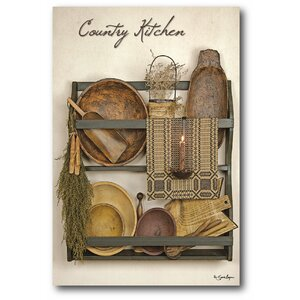 Farmhouse Canvas Country Kitchen II Graphic Art on Wrapped Canvas by Courtside Market