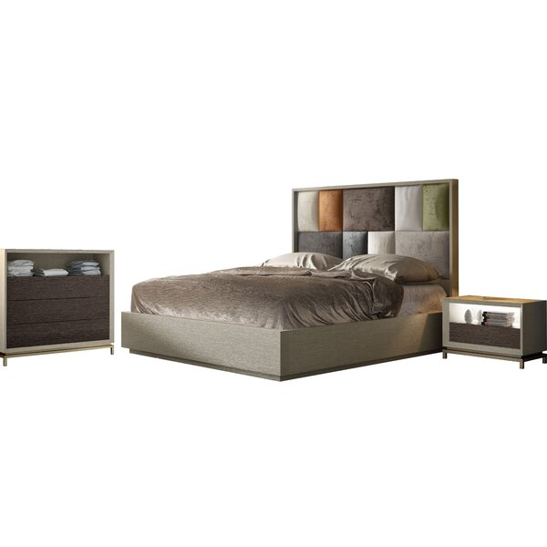 King Platform 3 Piece Bedroom Set By Hispania Home by Hispania Home Great price
