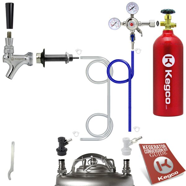 Standard Homebrew Kegerator Conversion Kit with 5 lb. CO2 Tank by Kegco