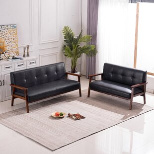Chiana 2 Piece Faux Leather Living Room Set by George Oliver