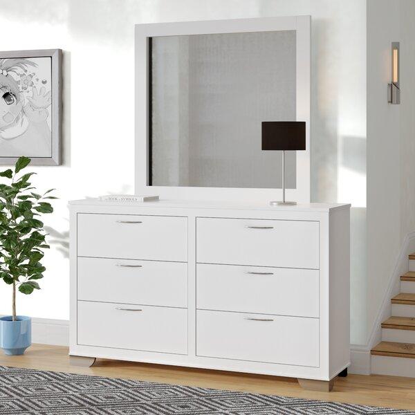Belding 6 Drawer Standard Dresser/Chest with Mirror by Latitude Run