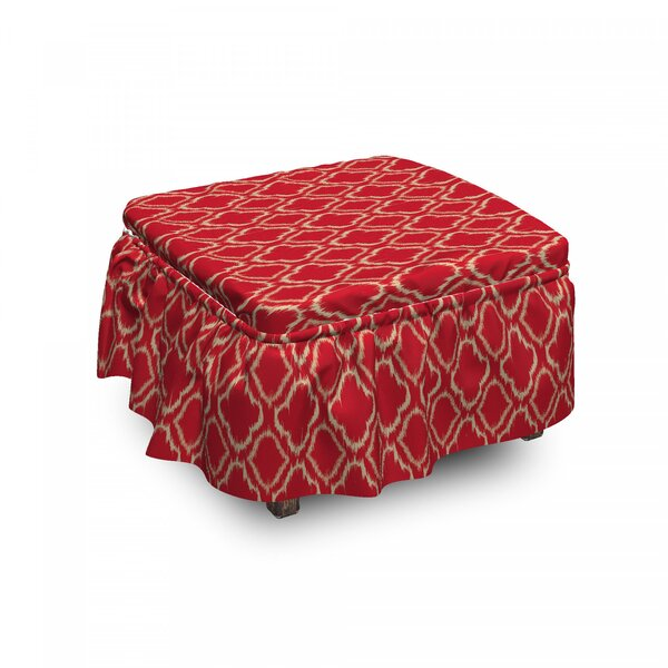 Tie Dye Ikat Ottoman Slipcover (Set Of 2) By East Urban Home