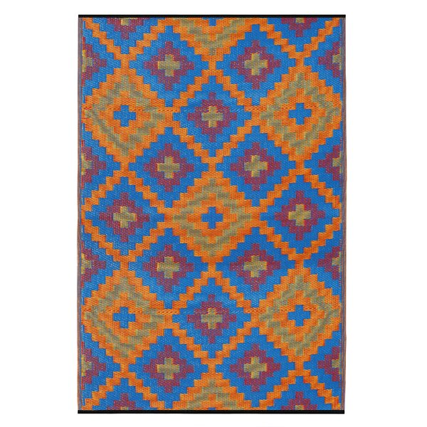 Reva Hand Woven Blue/Orange/Purple Indoor/Outdoor Area Rug by Zipcode Design