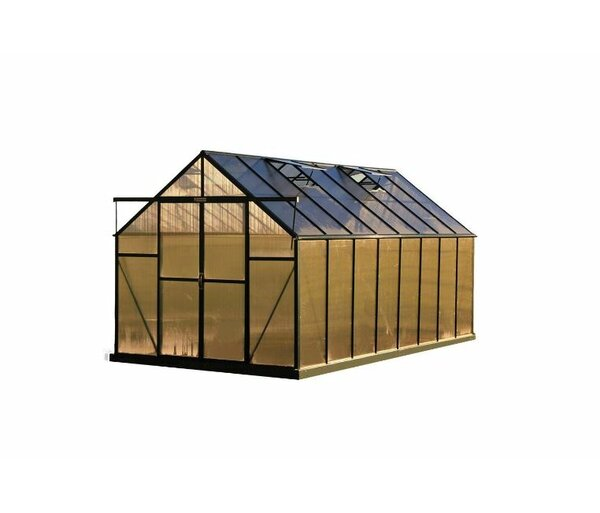 Ascent Heavy-Duty Aluminum 8 Ft. W x 16 Ft. D Greenhouse by Grandio Greenhouses