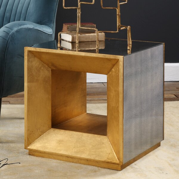 Smart Cube End Table by Everly Quinn