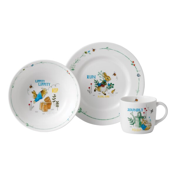 Peter Rabbit 3 Piece Bone China Service for 1 by Wedgwood