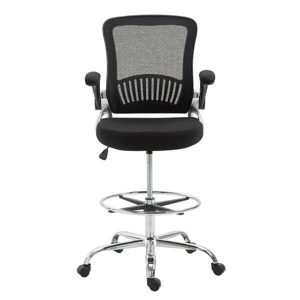 Pinzon Mesh Drafting Chair by Latitude Run