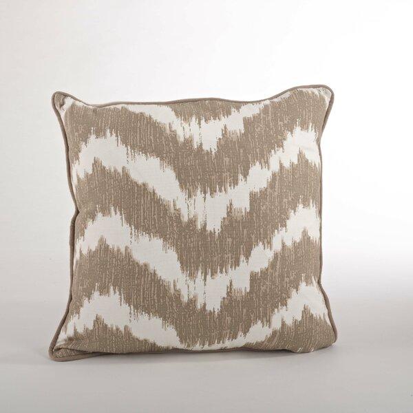 Serpentine Printed Wavy Cotton Throw Pillow by Saro