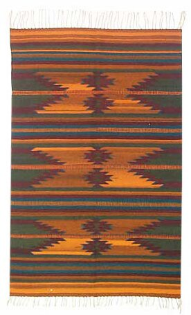 Ocre Zapotec Area Rug by Novica