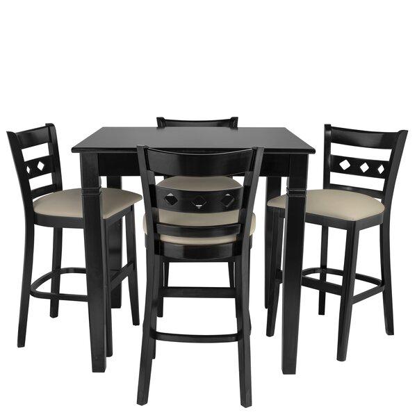 Weisser 5 Piece Pub Table Set by Red Barrel Studio