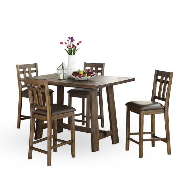 Kirtin 5 Piece Counter Height Dining Set by Gracie Oaks Gracie Oaks