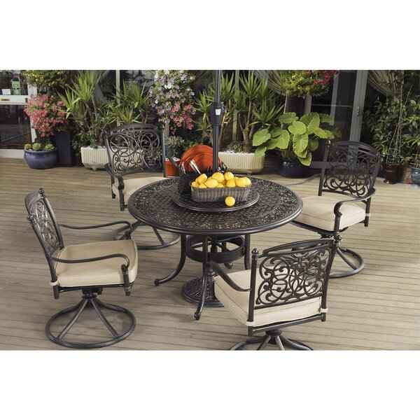 Trent 7 Piece Dining Set with Cushions by Astoria Grand